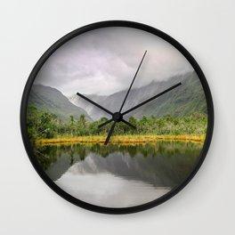 Ambiguous Skies Wall Clock