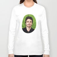 james franco Long Sleeve T-shirts featuring James Franco by WeedPornDaily
