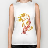koi fish Biker Tanks featuring Koi Fish by Dani Rose