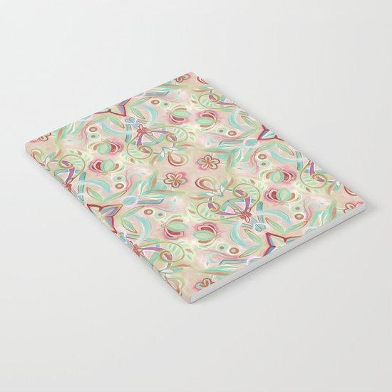 Soft Marsala and Sage Pattern Notebook