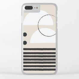 Abstract Modern Art Clear iPhone Case