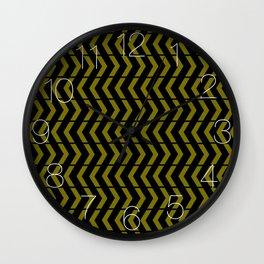 Play Yellow and Black Wall Clock