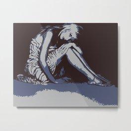 Sarah Michelle Gellar - Zebra Metal Print