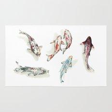 Koi Fish Watercolour Rug