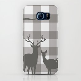 Deer & Birch Grey Plaid iPhone Case