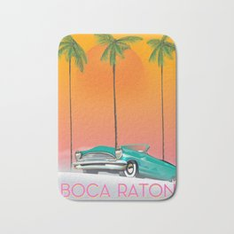Boca Raton Florida travel poster Bath Mat