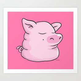 Piggy Catbear Art Print