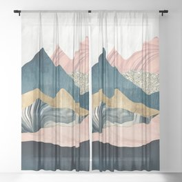 Plush Peaks Sheer Curtain