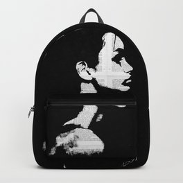 Black, white and words bw Backpack