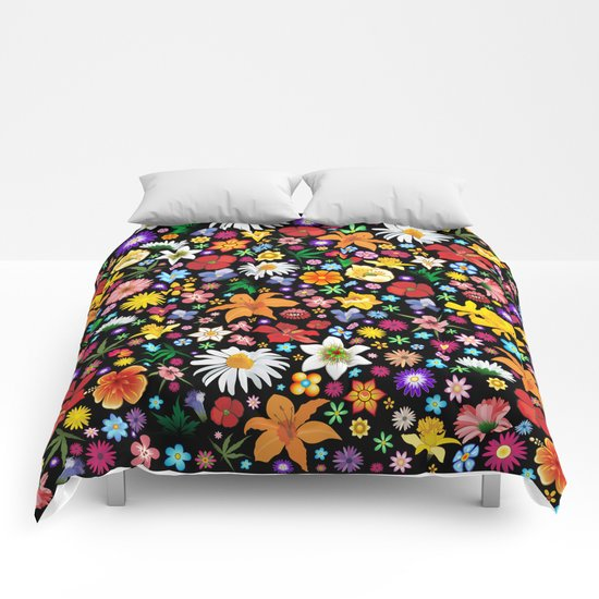Spring Flowers Pattern Comforters