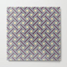 Braided pattern in retro style Metal Print