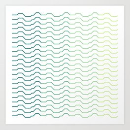 Ombre Waves Art Print
