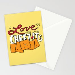 I love you more than Cheez-Its Stationery Cards