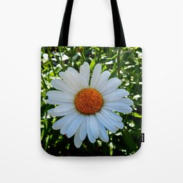 Single White Daisy Tote Bag