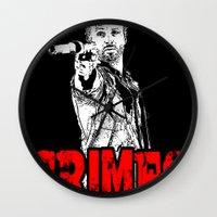 rick grimes Wall Clocks featuring Walking Dead - Rick GRIMES  by High Design