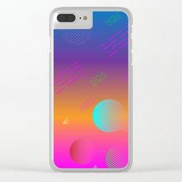 Geometric universe Clear iPhone Case