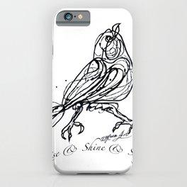 OLena Art Design Rise & Shine & Sing iPhone Case