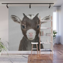 Baby Goat - Colorful Wall Mural