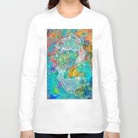 yin yang Long Sleeve T-shirts featuring YIN & YANG by AlyZen Moonshadow