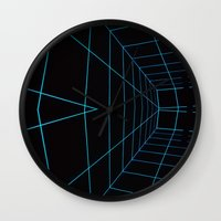 tron Wall Clocks featuring Tron Lines by Kookyphotography
