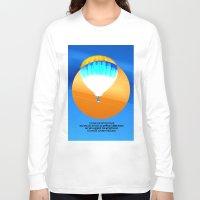 hot air balloon Long Sleeve T-shirts featuring Cold Hot Air Balloon by Annaleta Nichols