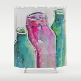 Bottles Shower Curtain