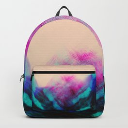 Dark Road Pink Hill Teal Valley Backpack
