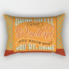 Drink Coffee Rectangular Pillow