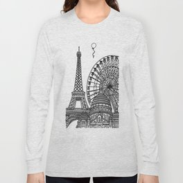 Paris Silhouettes Long Sleeve T-shirt