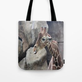 Giraffe Close up Tote Bag