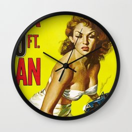 A Women In City Wall Clock