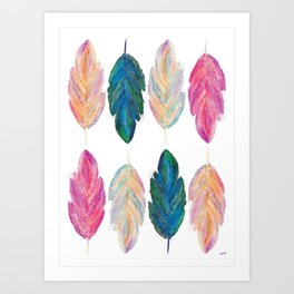 feather fully Art Print
