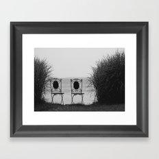 everybody left. Framed Art Print