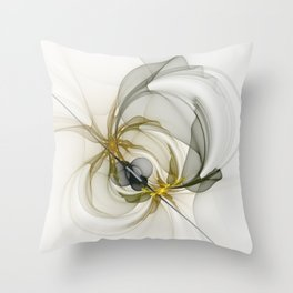 Together We Are Strong, Abstract Fractal Art Throw Pillow