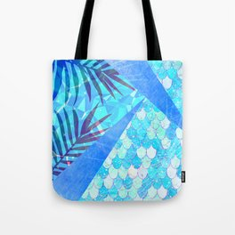 Sunny Candy Geometric Summer Mermaid Scales Tote Bag
