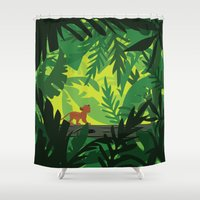 simba Shower Curtains featuring Lion King - Simba Pattern by Cina Catteau