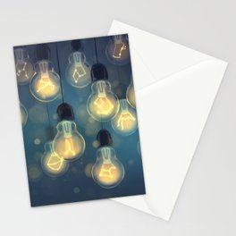 constellation lights Stationery Cards