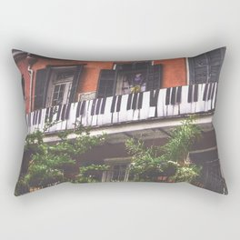 New Orleans French Quarter Piano Nola Home in Louisiana Rectangular Pillow