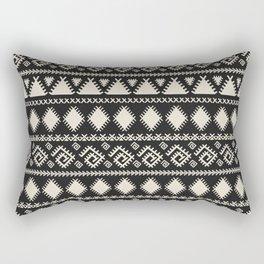 Vintage white black geometrical aztec tribal Rectangular Pillow