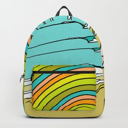 Retro Surf Days Single Fin Pick Up Truck Backpack
