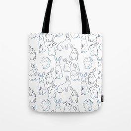 Indigo Bunnies Tote Bag
