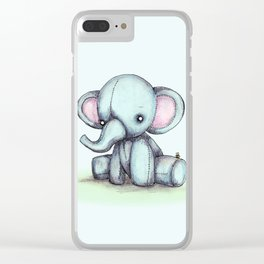 Elephant & Bee Clear iPhone Case