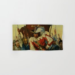 """""""Stand and Deliver"""" Pirate Art by NC Wyeth Hand & Bath Towel"""