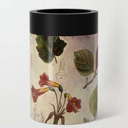 Botanical Study #1, Vintage Botanical Illustration Collage Can Cooler