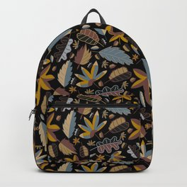 Summer leafs in blue and braun Backpack