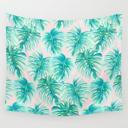 Paradise Palms Blush Wall Tapestry