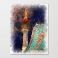 seoul Canvas Prints featuring Seoul Tower by Marisa Johnson :: Art & Photography