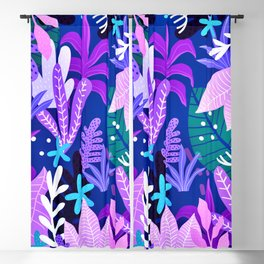 Into the jungle - violet night Blackout Curtain