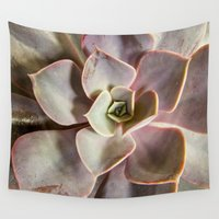 succulent Wall Tapestries featuring succulent by Bonnie Jakobsen-Martin