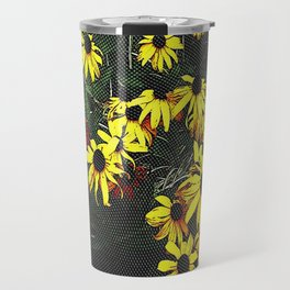 Etched Daisy Cluster Travel Mug